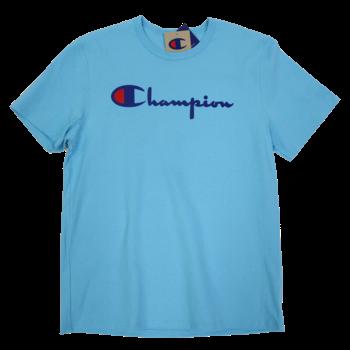 Champion Champion Men's Classic Printed Script Tee Powder Blue GT19