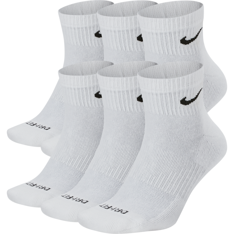 Nike Nike Everyday Plus Ankle Socks White (6 pair) SX6899 100