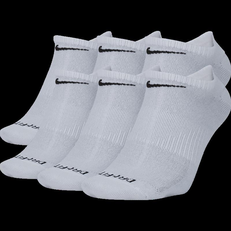 Nike Nike Dri Fit Socks No Show (6 pair) White SX6900 100
