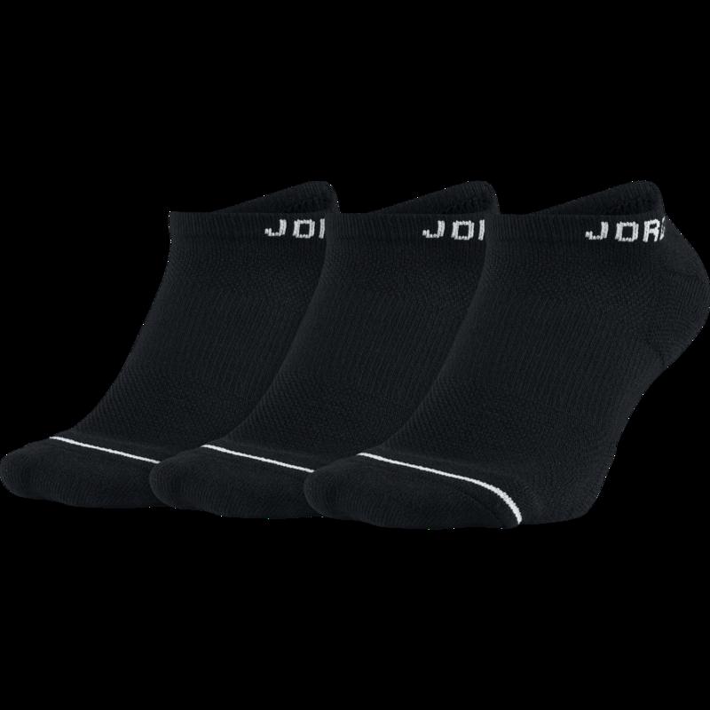 Air Jordan Air Jordan Dri Fit Socks No Show Black (3 pair) SX5546 010