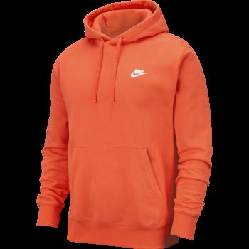 Nike Nike Men's Sportswear Club Fleece Hoodie Pullover ORANGE BV2654 837