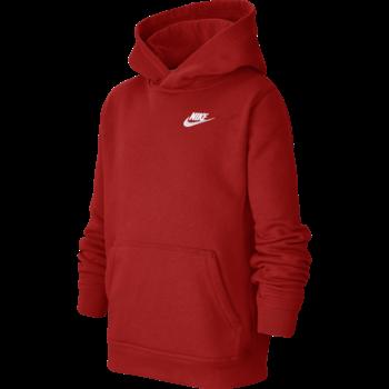 Nike Nike Kid's Fleece Pullover Hoodie Red/White BV3757 657