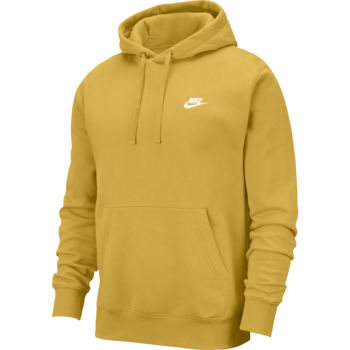 Nike Nike Men's Club Fleece Hoodie Pullover Dijon Yellow BV2654 761