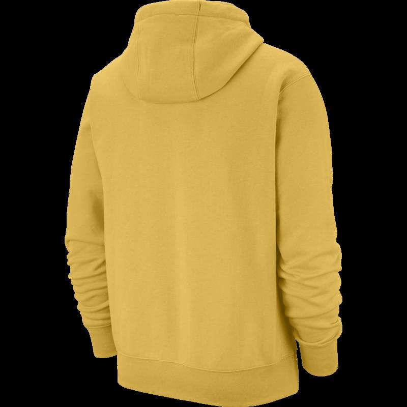 Nike Nike Men's Club Fleece Hoodie Pullover Dijon Yellow BV2654 761