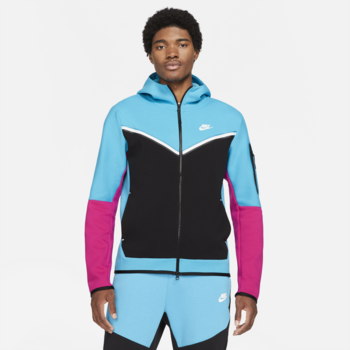 Nike Nike Men's Tech Fleece Hoodie Light Blue/Pink CU4489 434