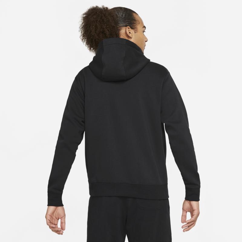 Nike Nike Sportswear Club Fleece Men's Full-Zip Hoodie 'Black/Red' BV2645 015