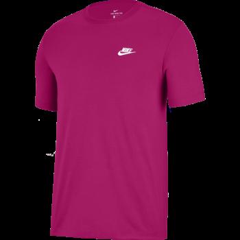 Nike Nike Sportswear Club Shirt FIREBERRY/WHITE AR4997 615