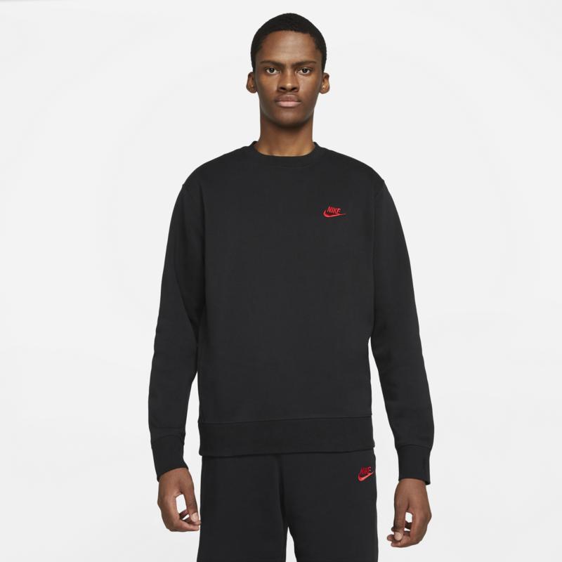 Nike Nike Sportswear Club Crew 'Black/Red' BV2662 014
