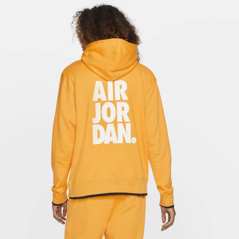 Air Jordan Air Jordan Men's Jumpman Classics Pullover Hoodie 'University Gold/White' CV2244 739