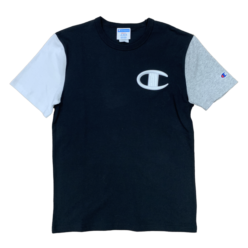 Champion Champion Color Block Embroider C Shirt T7041 Black/Grey/White