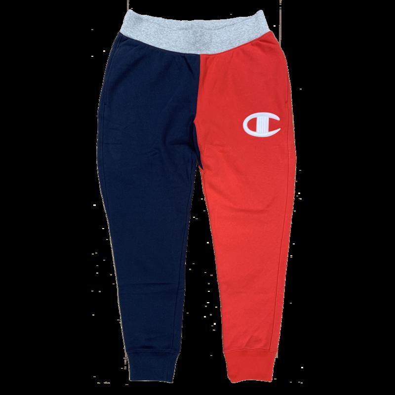 Champion Men's Fleece Pant Logo Stitch Red/Grey/Blue P0502