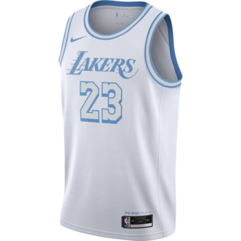 Nike Nike Basketball Lebron James Swingman Los Angeles Lakers Blue and Silver City Edition Jersey 'Lore Series' CN1737 102