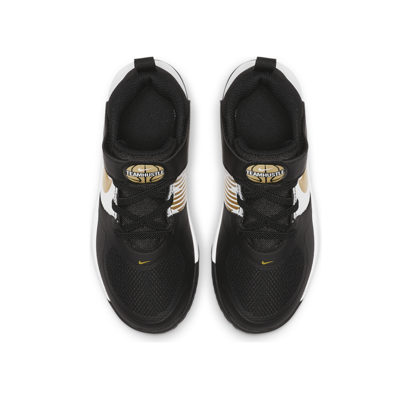Nike Nike Team Hustle D9 PS 'Black/Metallic Gold' AQ4225 004