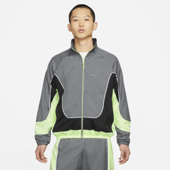Nike Nike Men's Throwback Track Jacket Green/Grey Highlighter Lime CV1931 084