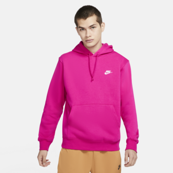 Nike Nike Men's Sportswear Club Fleece Pullover Hoodie 'Fireberry/White' BV2654 615