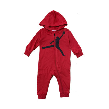 Air Jordan Air Jordan Boys Jumpman Hooded Coverall Red/Black 65A594 R78