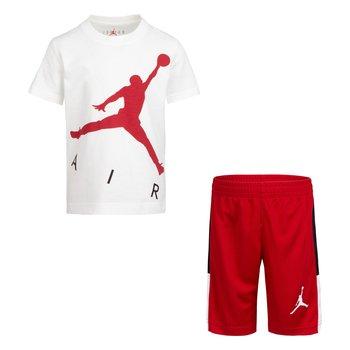 Air Jordan Air Jordan Boys Air Short Set White/Red 85A390 R78