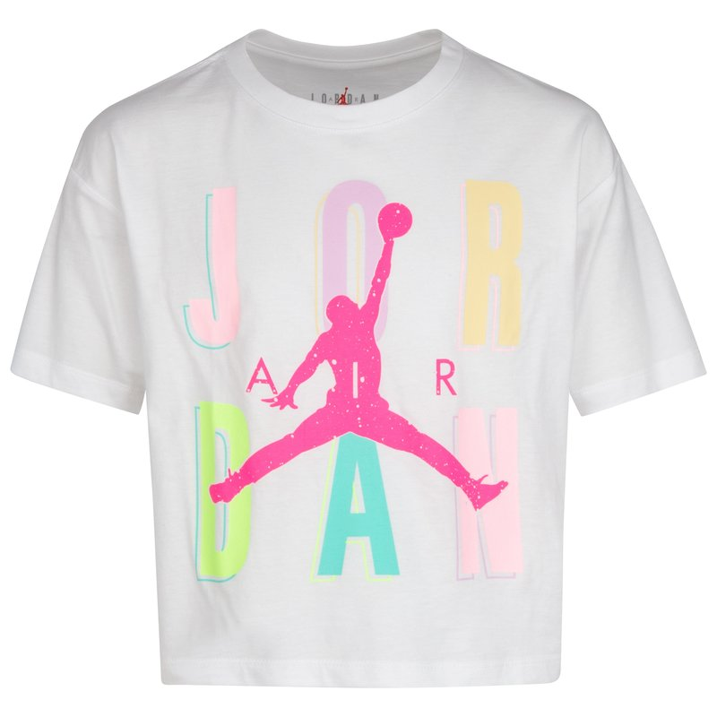 Air Jordan Air Jordan Girls Sweets&Treats Tee White/Multi Color 45A409 001