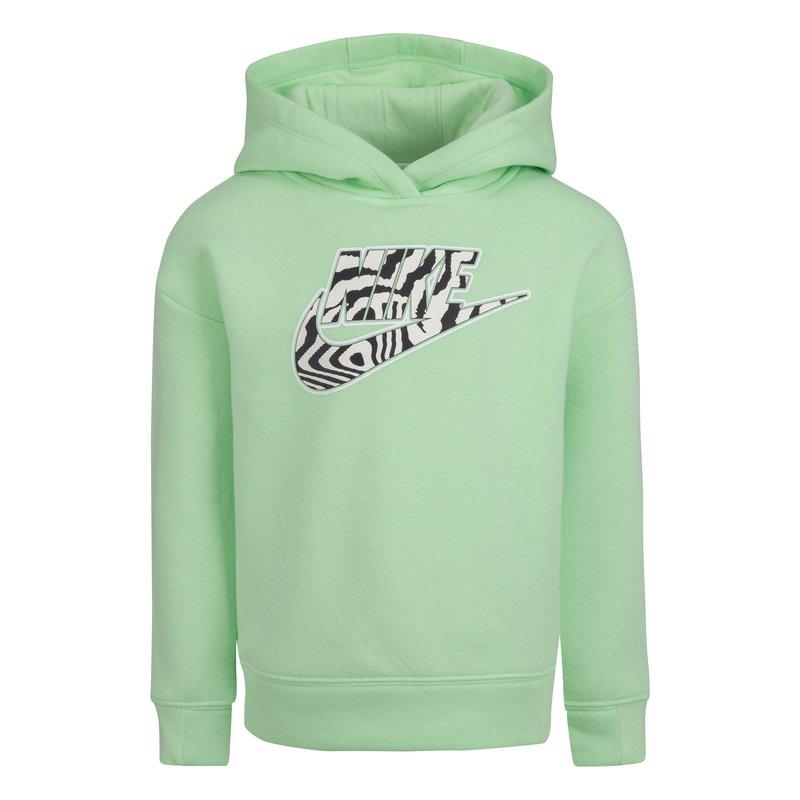 Nike Nike Girls  Cropped Hoodie Vapor Green Zebra 36H496 E2E