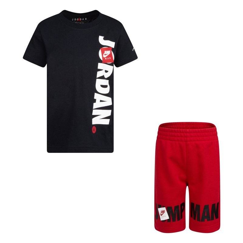 Air Jordan Air Jordan Boys 2 Piece Jumpman Shorts Set Black/Red 85A357 R78