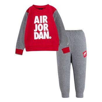 Air Jordan Air Jordan Boys 2 Piece Crewneck Fleece Suit Red/Grey 75A356 GEH