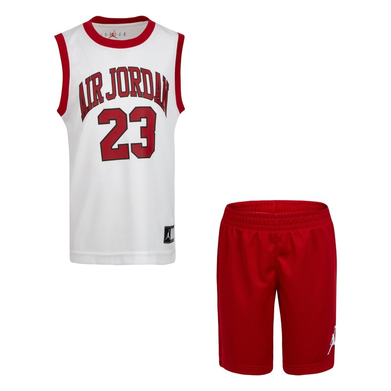 Air Jordan Air Jordan Boys 2 Piece Jersey Set Gym Red/White 857559 R78