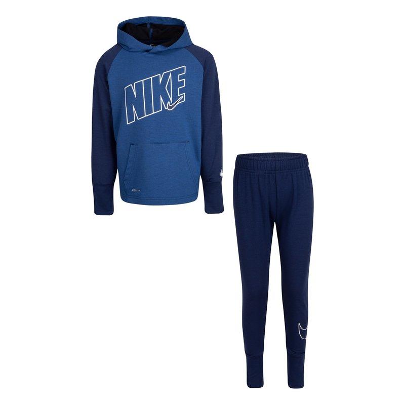 Nike Nike Boys 2 Piece Dri-fit Suit Blue Void 76H528 C1D