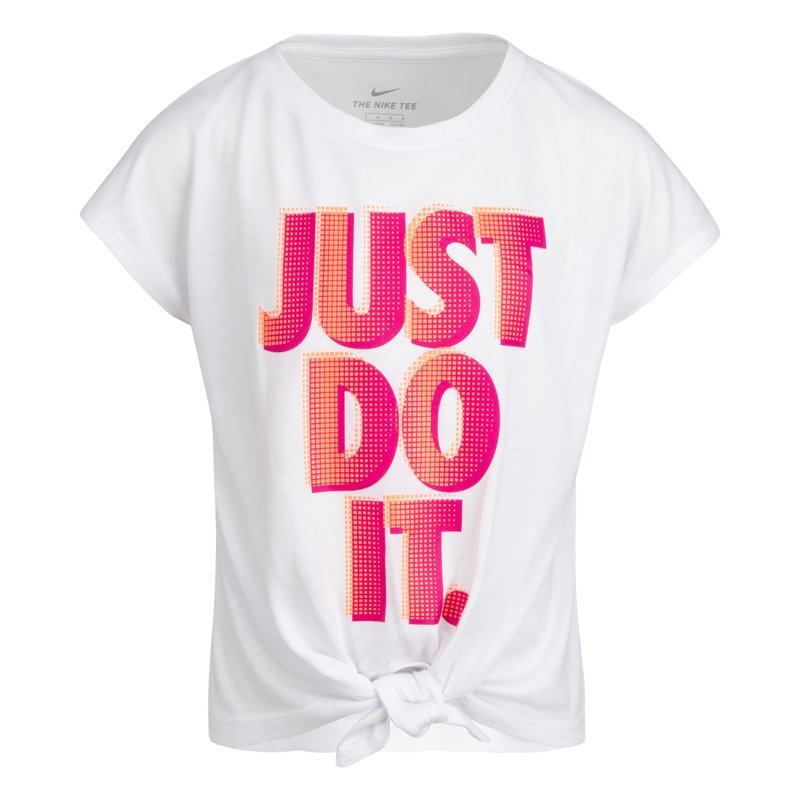 Nike Nike Girls Tie Front S/S Top 36H729 001