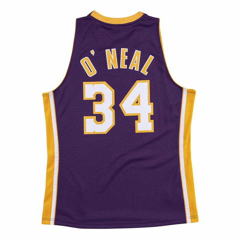 Mitchell & Ness Mitchell & Ness Shaquille O'Neal Swingman Jersey Los Angeles Lakers Purple