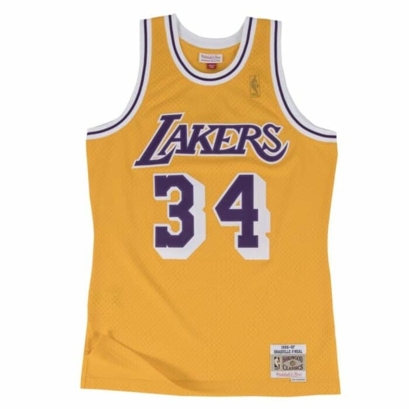 Mitchell & Ness Mitchell & Ness Shaquille O'Neal Swingman Jersey Los Angeles Lakers Yellow