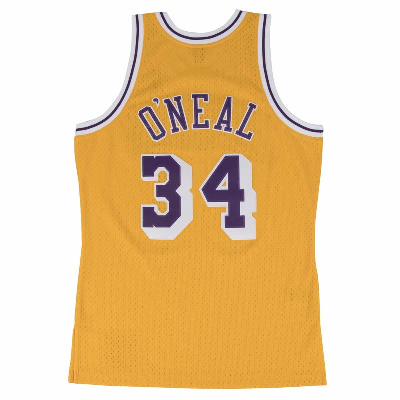 Mitchell & Ness Mitchell & Ness Los Angeles Lakers Shaquille O'Neal 1996-97 Jersey Gold