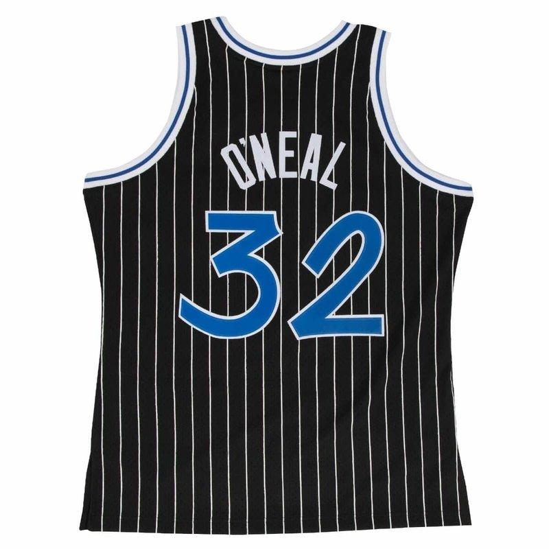 Mitchell & Ness Mitchell & Ness Shaquille O'Neal Swingman Jersey Orlando Magic Black/Pin Stripe