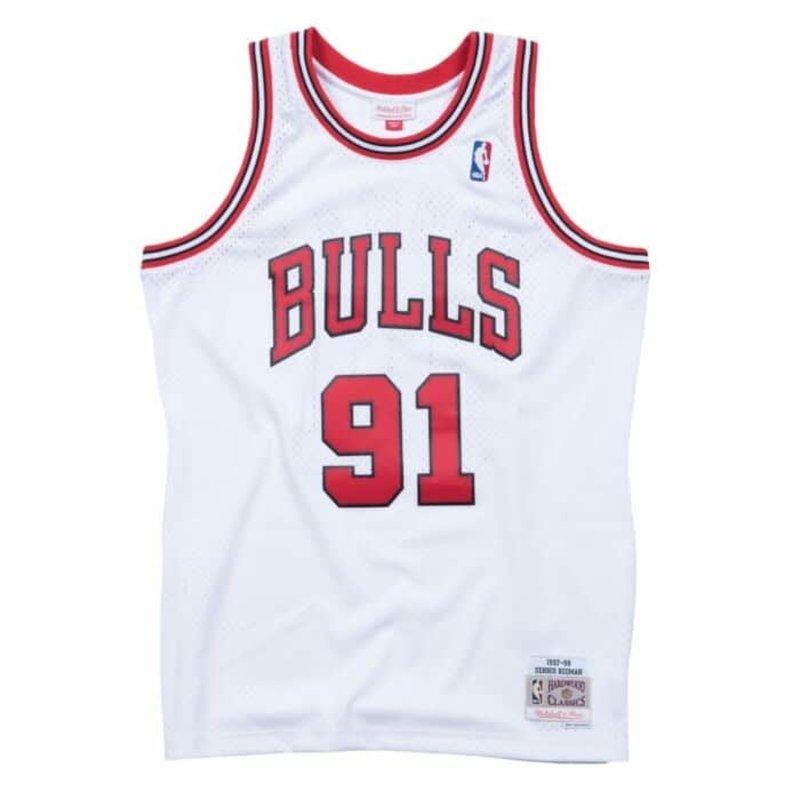 Mitchell & Ness Mitchell & Ness Rodman Bulls Swingman White 97-98