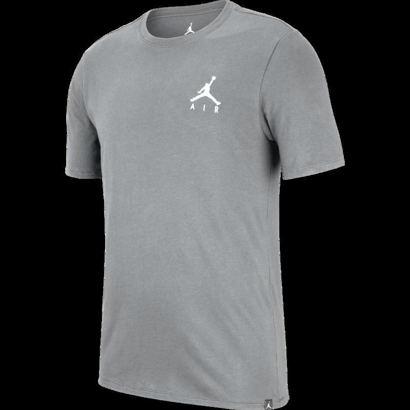 Air Jordan Air Jordan Men's Embroidered Jumpman T-shirt Grey AH5296 091