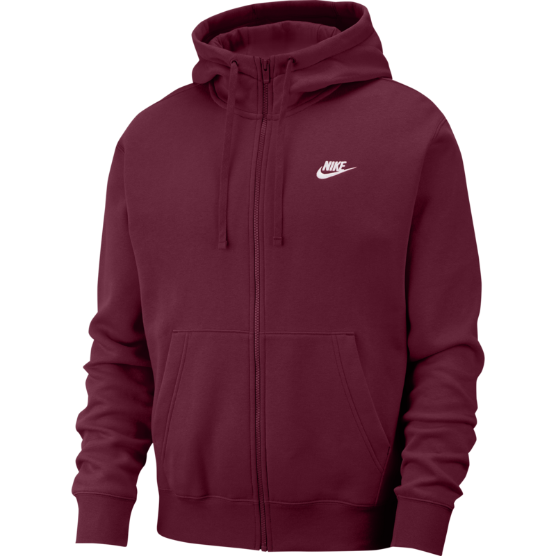 Nike Nike Sportswear Club Fleece Men's Full-Zip Hoodie 'Burgundy' BV2645 638