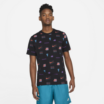 Nike Nike Men's Brandmarks AOP Tshirt 'Black' DB6176 010