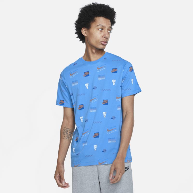 Nike Nike Men's Brandmarks AOP Tshirt 'Blue' DB6176 435