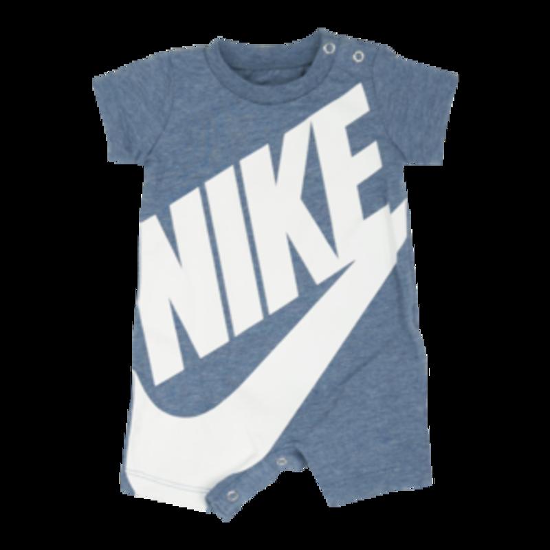 """Nike Nike Classic """"Swoosh"""" Logo Onesie Heather Blue 5N D369 C46"""