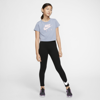 Nike Nike Big Girl's NSW Swoosh Leggings 'Black' AR4076 010