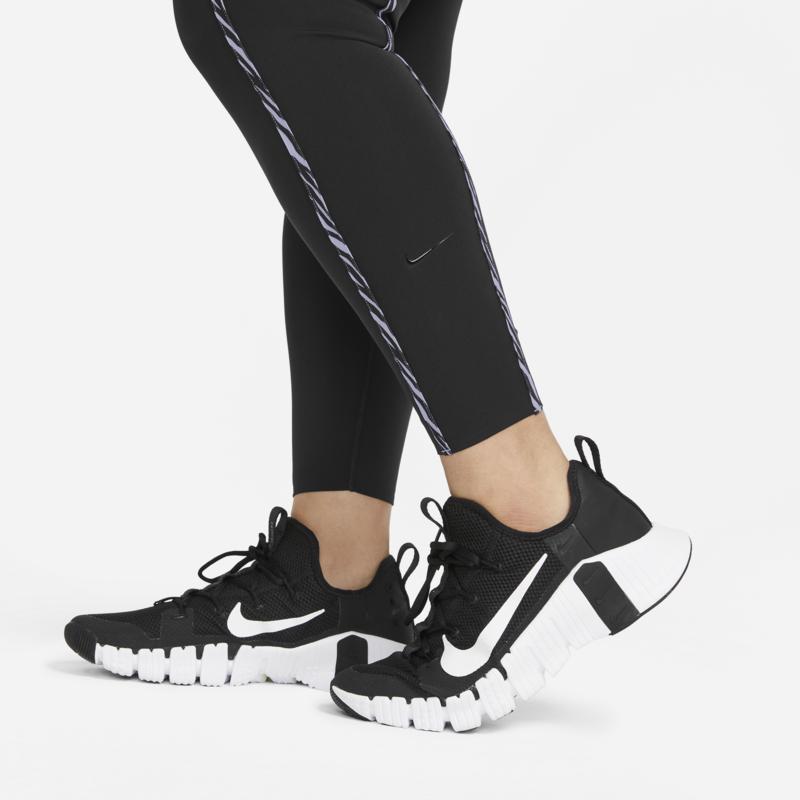 Nike Nike Women's One Lux Icon Clash Leggings 'Black/Purple Chalk/White' CZ9210 010