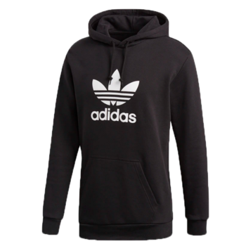 Adidas Adidas Men's TREFOIL HOODIE Black/White DT7964