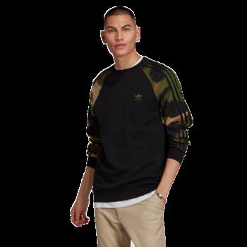 Adidas Adidas Men's CAMO STRIPES CREWNECK SWEATSHIRT Black/Wild Pine/Multicolor