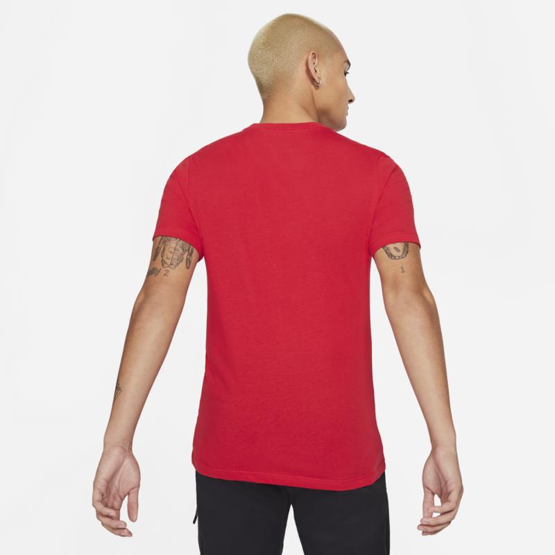 Nike Nike Men's Classic Print Tee Metalic Silver/Red DB6527 657