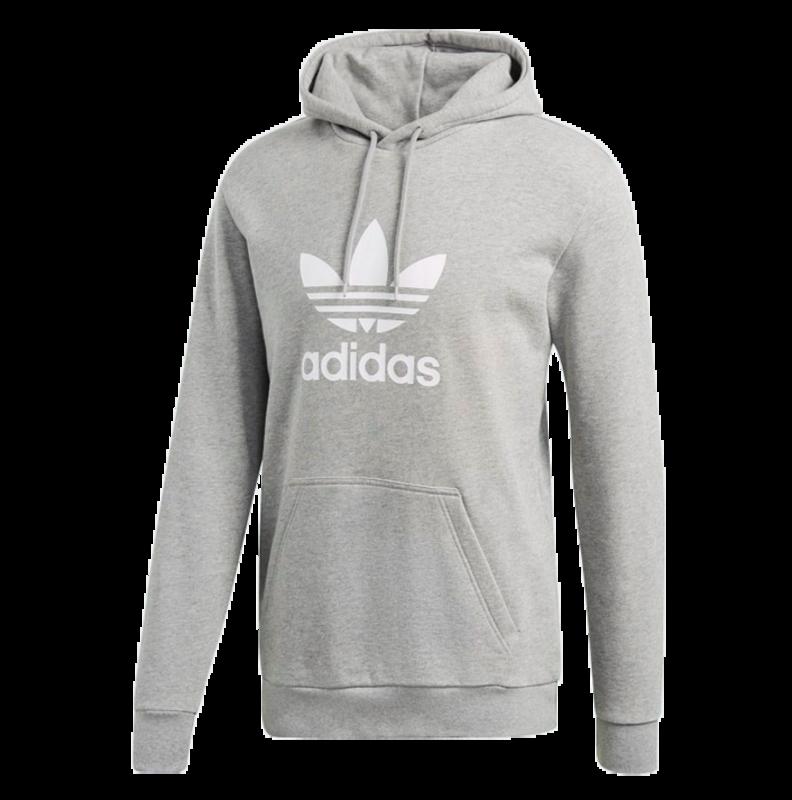 Adidas Adidas Men's Trefoil Hoodie Grey/White DT7963