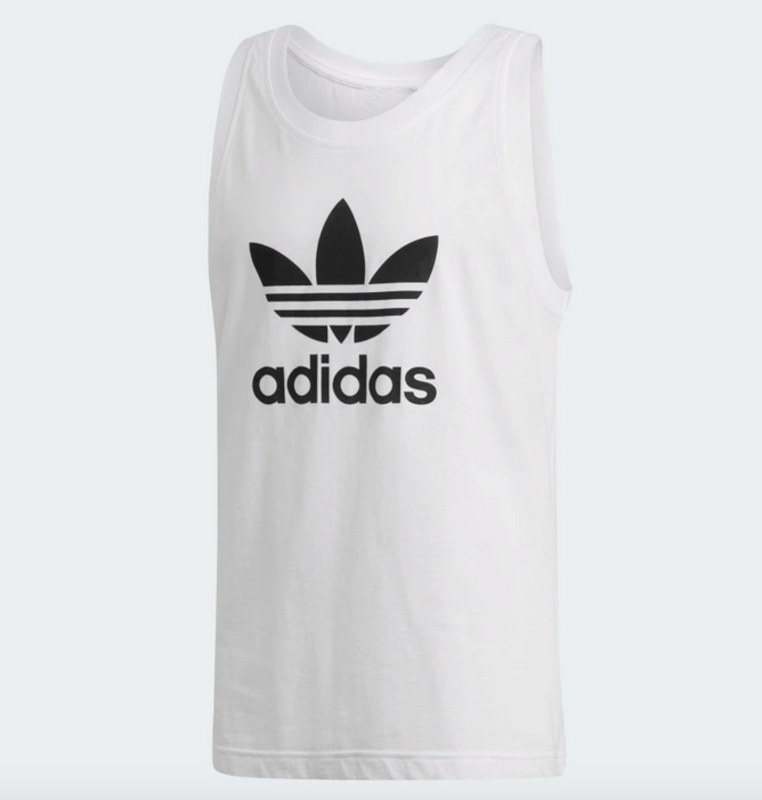 Adidas Adidas Men's Trefoil Tank Top White/Black DV1508