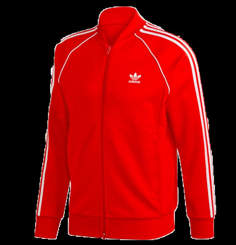 Adidas Adidas Men's Adicolor Classics Primeblue SST Track Jacket Red/White GF0208