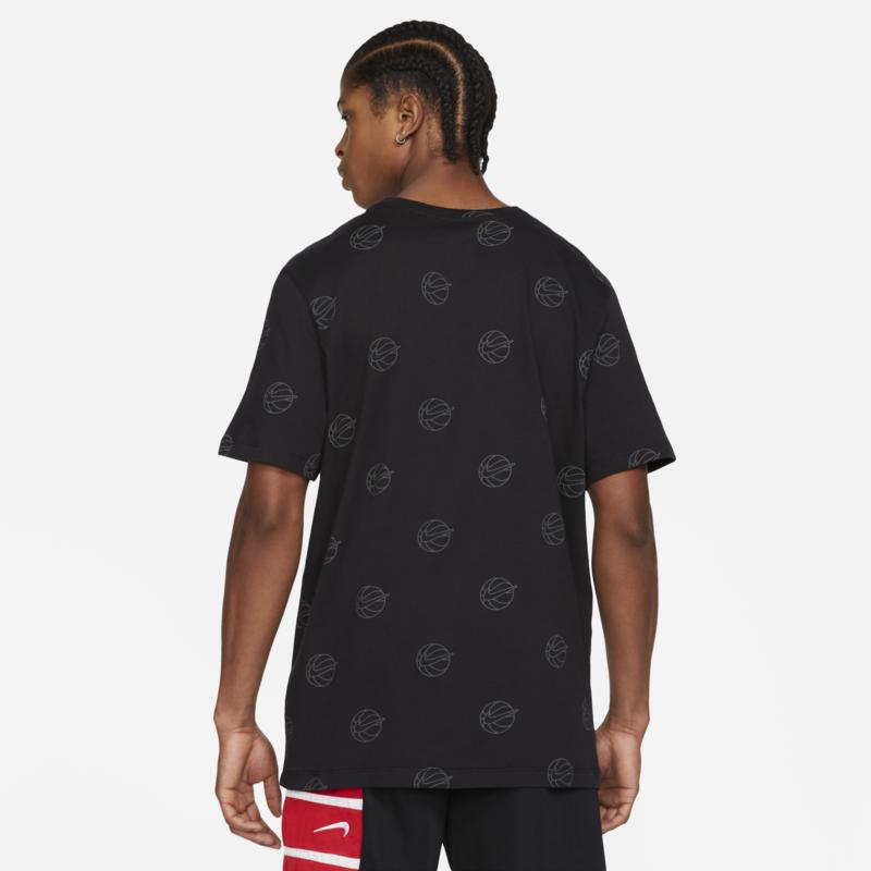 Nike Nike Men's Basketball T-Shirt Black-Red Swoosh DB5981 010