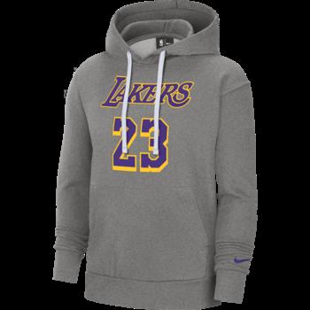 Nike Nike Men's LeBron James Lakers Fleece Hoodie Heather Grey CZ0282 063