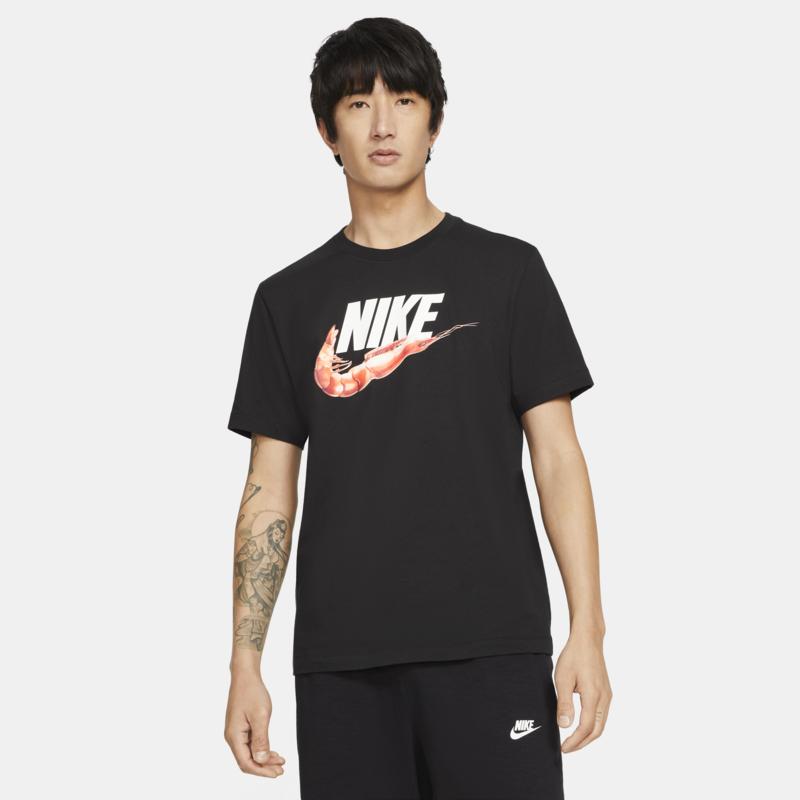 Nike Nike Men's Shrimp Swoosh Tee Black/Orange/White DD1286 010