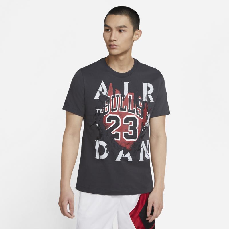 Air Jordan Air jordan Men's Bulls Tee 23 Black/Grey/Red DD5259 060